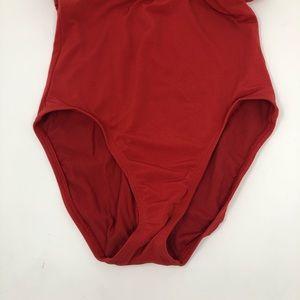 Robin Piccone Swim - Robin Piccone Red Halter Jewel Swimsuit sz 6